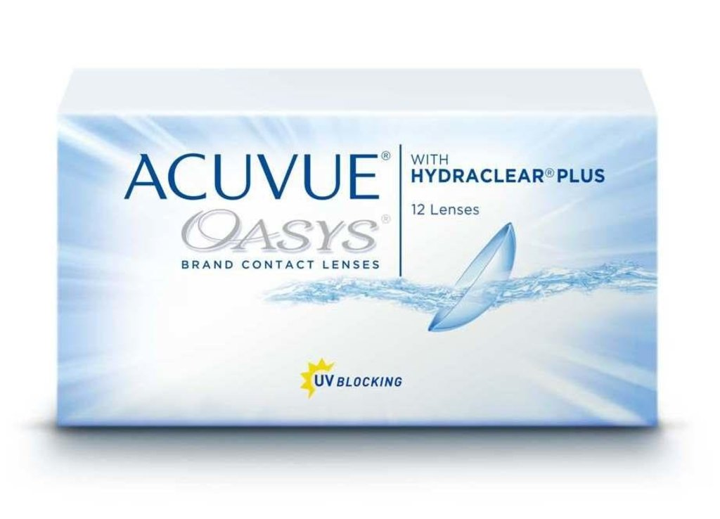 Контактные линзы: Контактные линзы Acuvue Oasys With Hydraclear Plus (12шт / 8.8) Johnson & Johnson в Лорнет