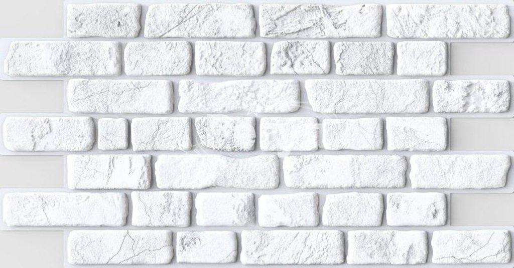 Панели ПВХ: Кирпич Ретро белый в Мир Потолков