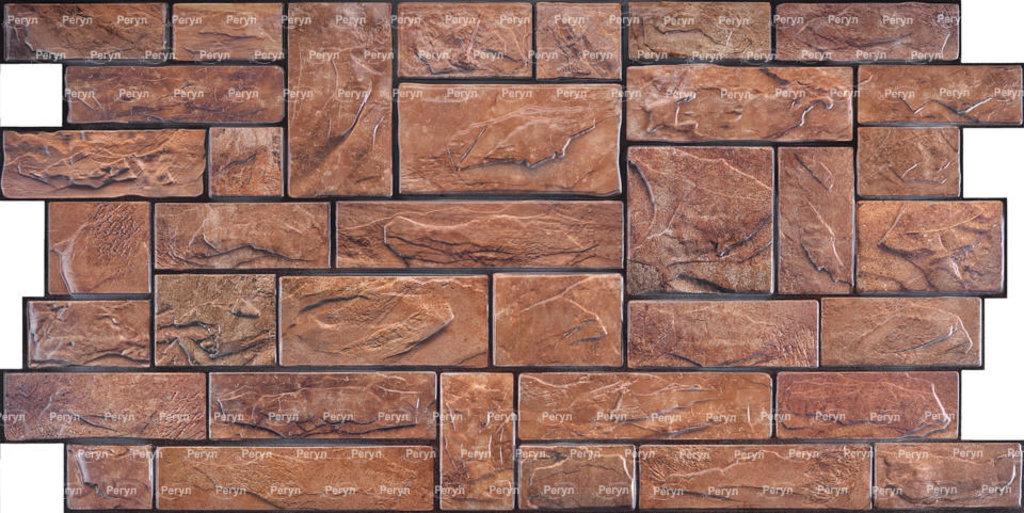 Панели ПВХ: Камень Пиленый настоящий коричневый в Мир Потолков