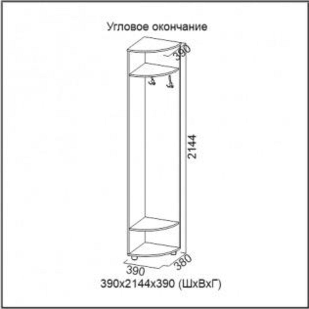 Мебель для прихожей Визит-1: Угловое окончание Визит-1 в Диван Плюс