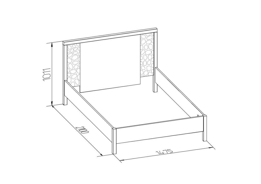 Кровати: Кровать WYSPAA 23 (1400, орт. осн. дерево) в Стильная мебель