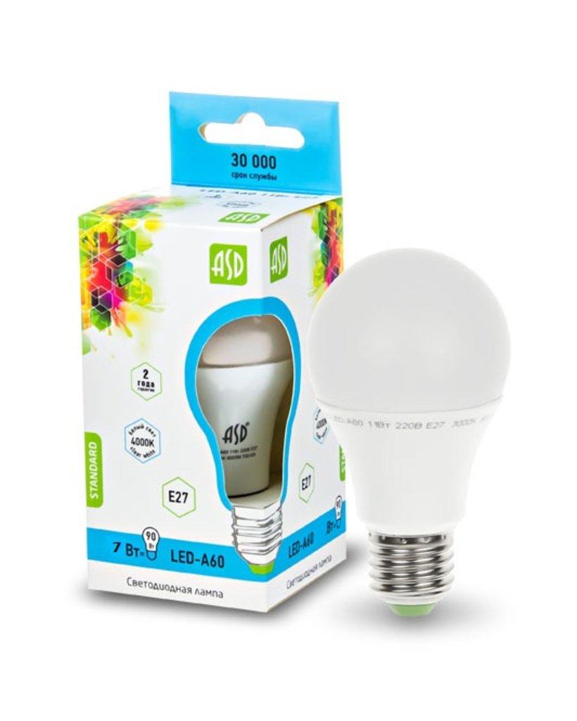 Светодиодные лампы: LED-A60-econom светодиодная лампа ASD в Электрика