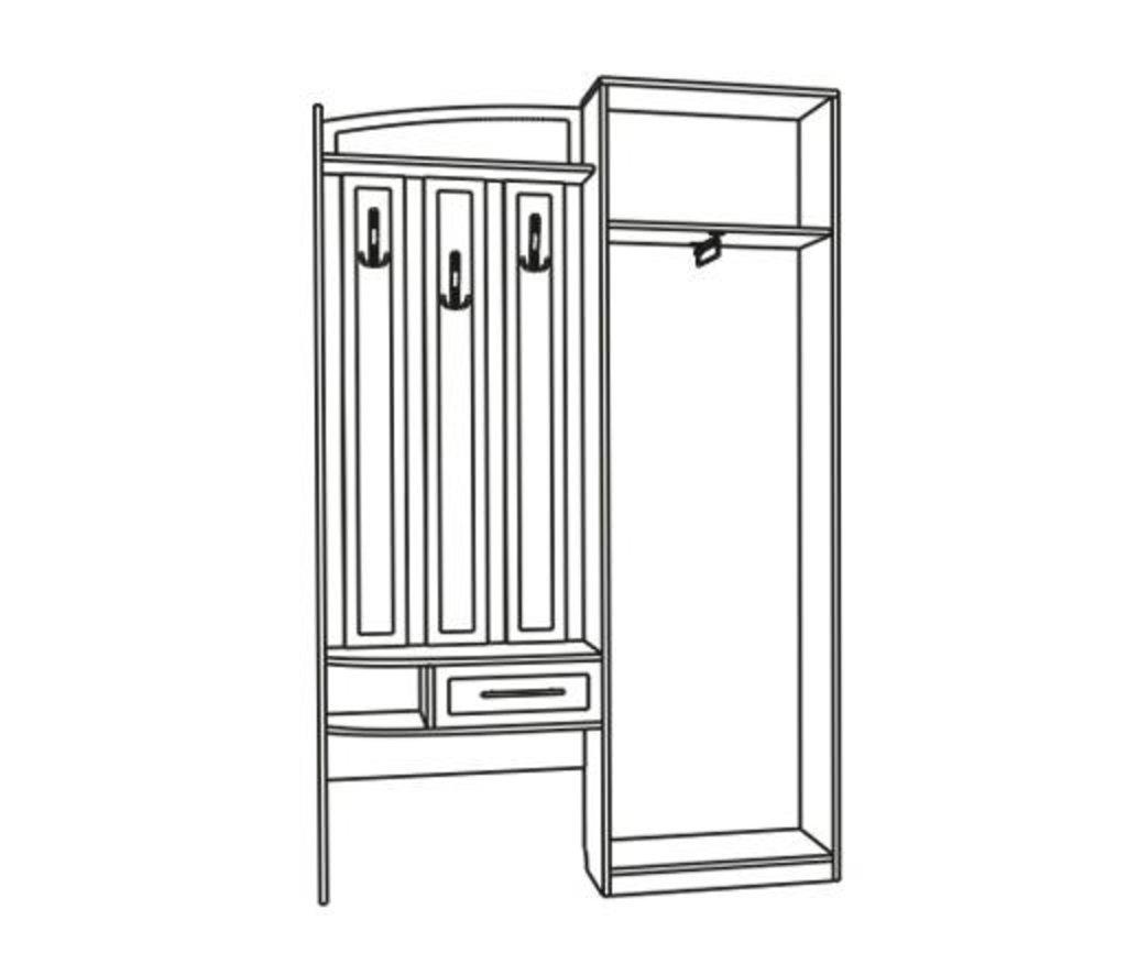 Мебель для прихожих, общее: Шкаф-вешалка София в Стильная мебель
