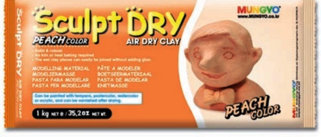 Керамическая масса: Глина для моделирования 1000гр персиковая Sculpt Dry MUNGYO в Шедевр, художественный салон