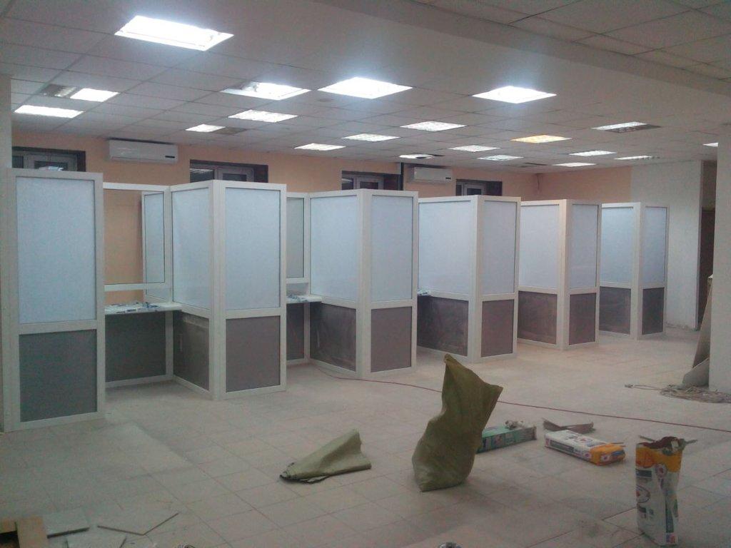 Установка пластиковых окон, дверей ПВХ: Офисные перегородки в ПластЭК