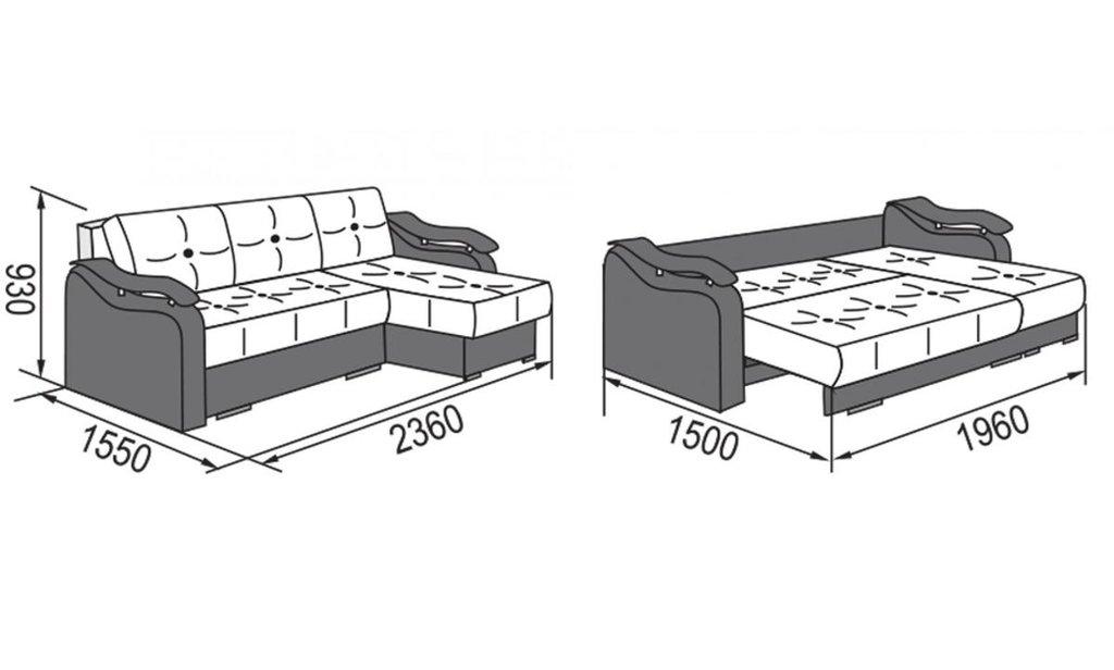 Угловые диваны: Диван-кровать угловой Милан (универсальный) в Уютный дом