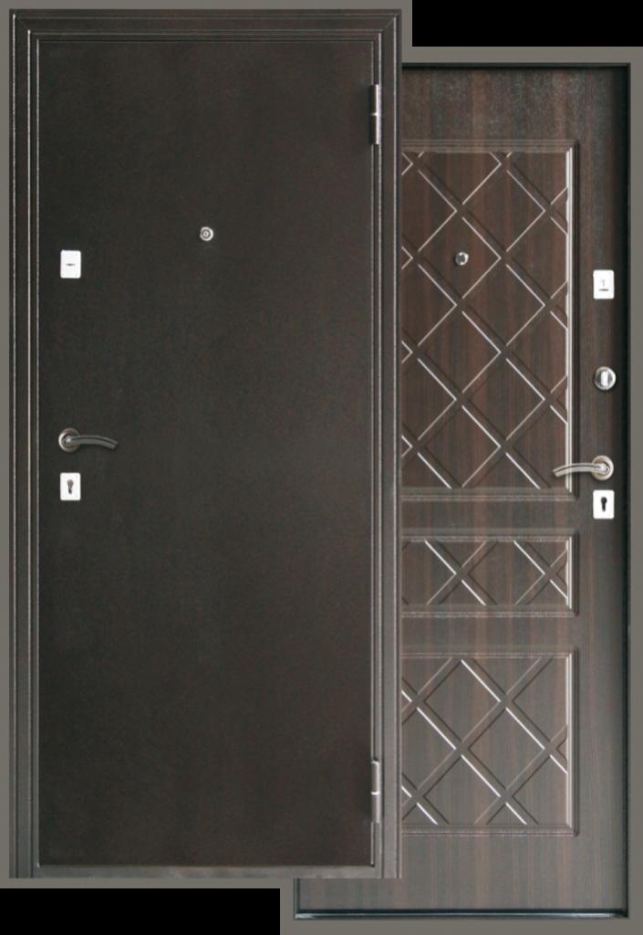 """Двери серии Стандарт: Входная дверь """"Эко-Венге"""" в Модуль Плюс"""