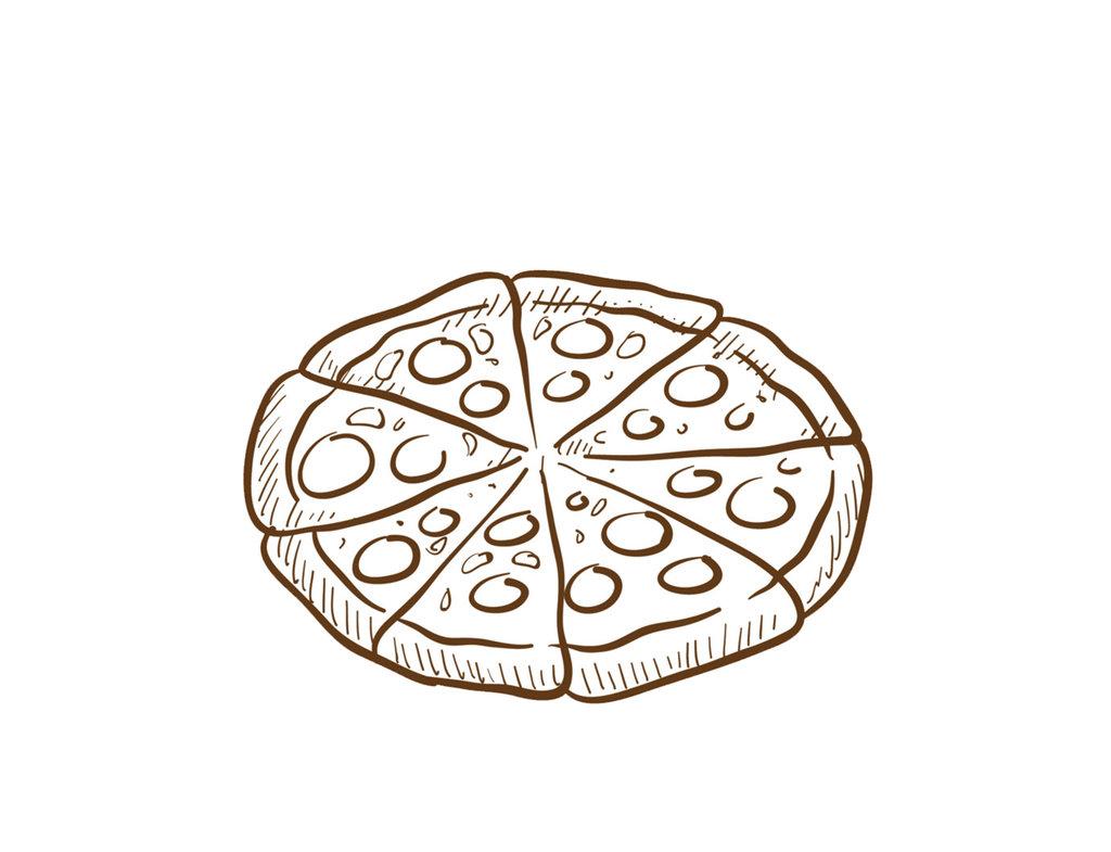 Пицца: Пицца Парме с ветчиной в Кафе «Парус»