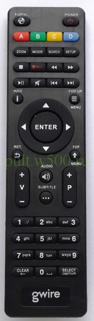 Пульты для медиаплееров: Пульт DUNE HD CONNECT 2 KOM ( медиаплеер GWIRE 95002, XY-1368B ) оригинал в A-Центр Пульты ДУ