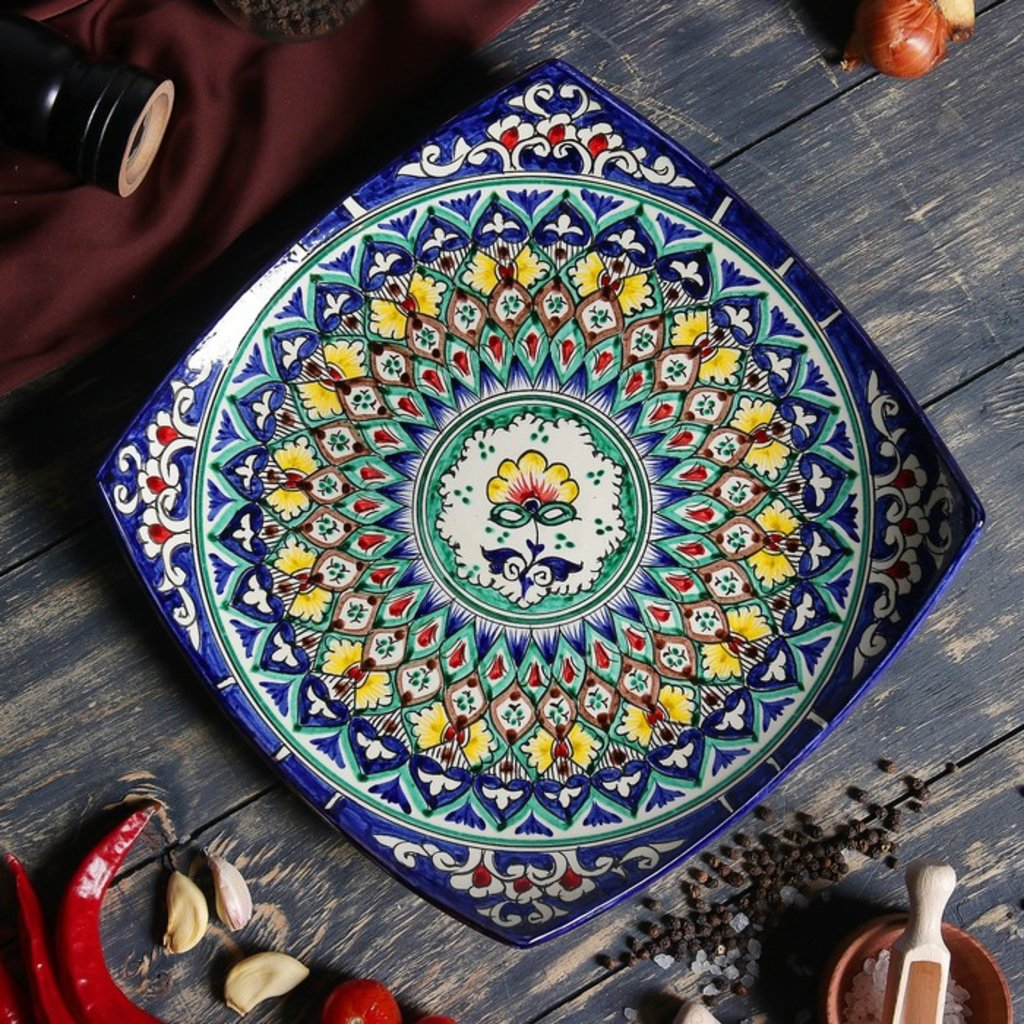 Мангалы. Казаны. Узбекская и турецкая посуда: Блюдо «Риштон» (квадратное) в Сельский магазин