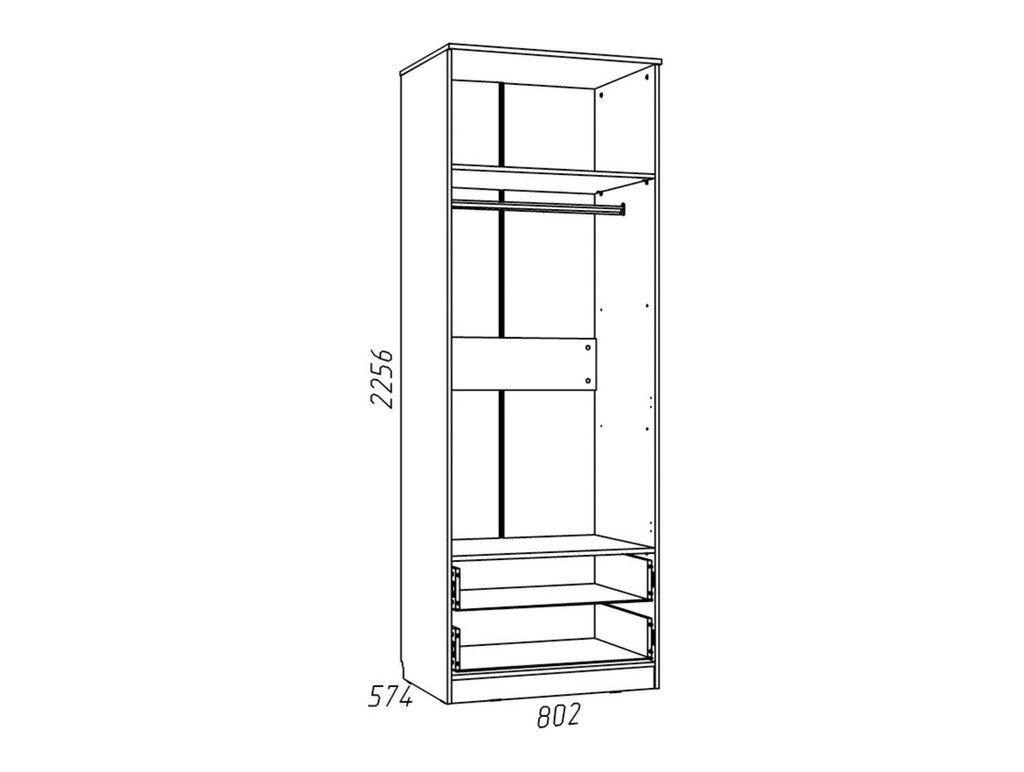 Детские шкафы и стеллажи: Шкаф для одежды с ящиками НМ 013.02-03 Рико в Стильная мебель