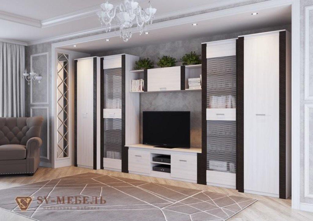 Мебель для гостиной Гамма-20: Тумба для телевидеоаппаратуры Гамма-20 в Диван Плюс