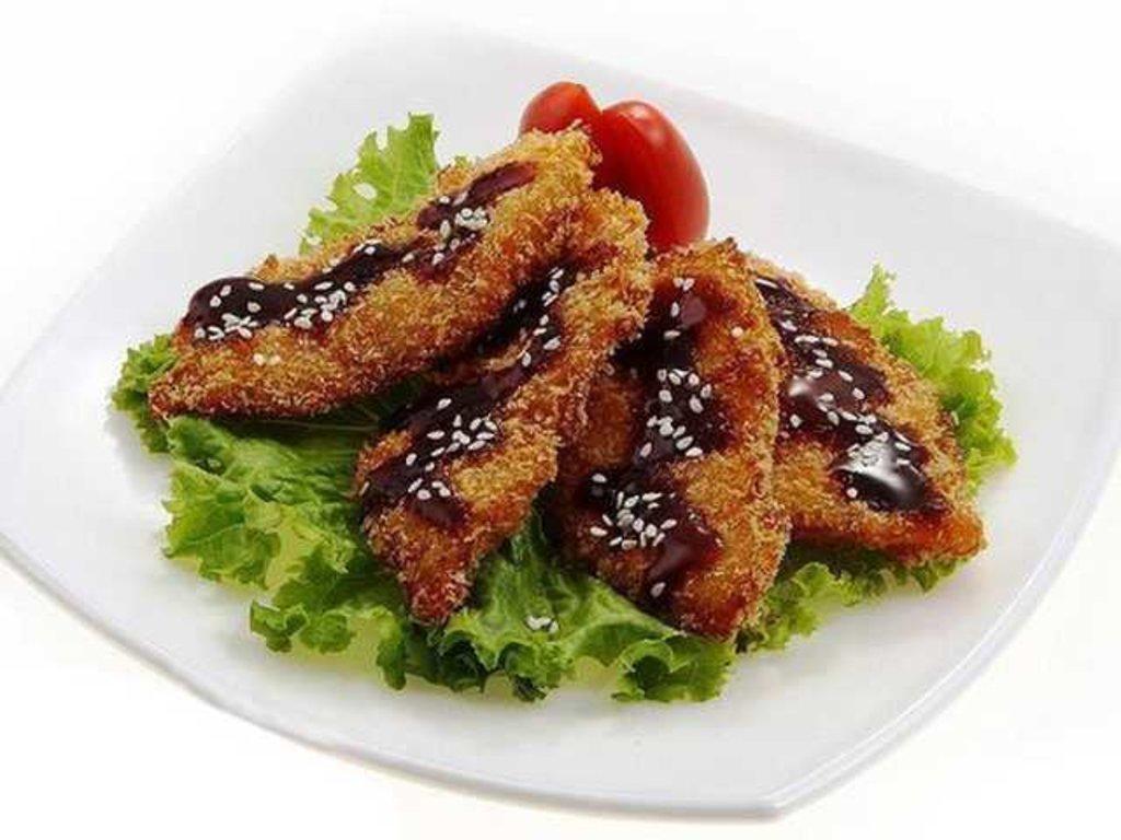Горячие блюда: Лосось темпура в СУШИ БАНДА