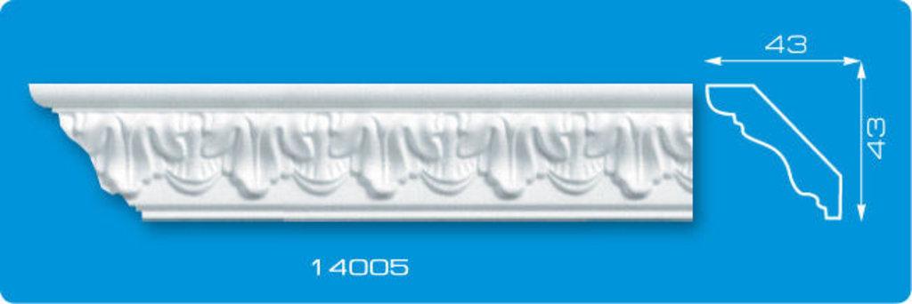 Плинтуса потолочные: Плинтус потолочный ФОРМАТ 14005 инжекционный длина 1,3м, средний в Мир Потолков