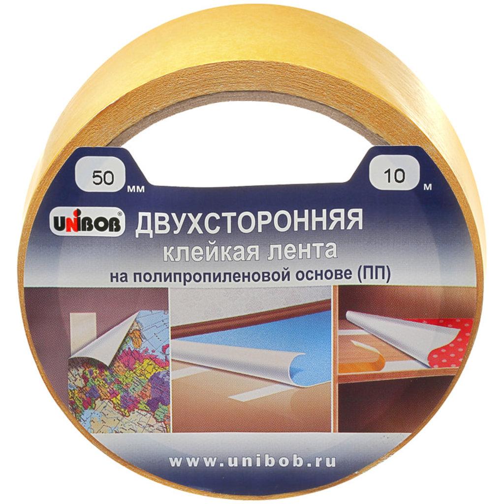 Скотч: Скотч двустор. полипропилен прозр. 50*10 Unibob в Шедевр, художественный салон
