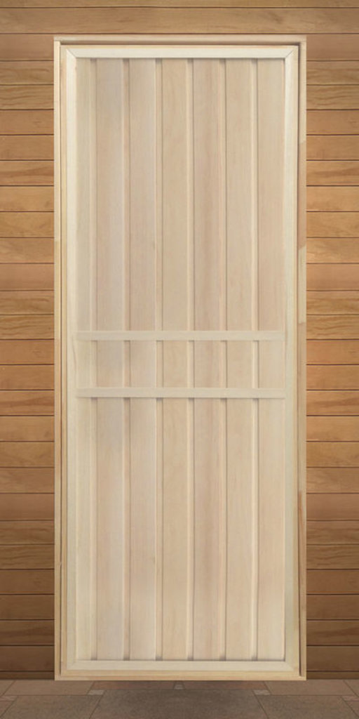 """Двери для саун и бань: Дверь 700*1800 мм,  (вагонка ЛИПА сорт """"В"""" ), банная, глухая, на петлях. в Погонаж"""