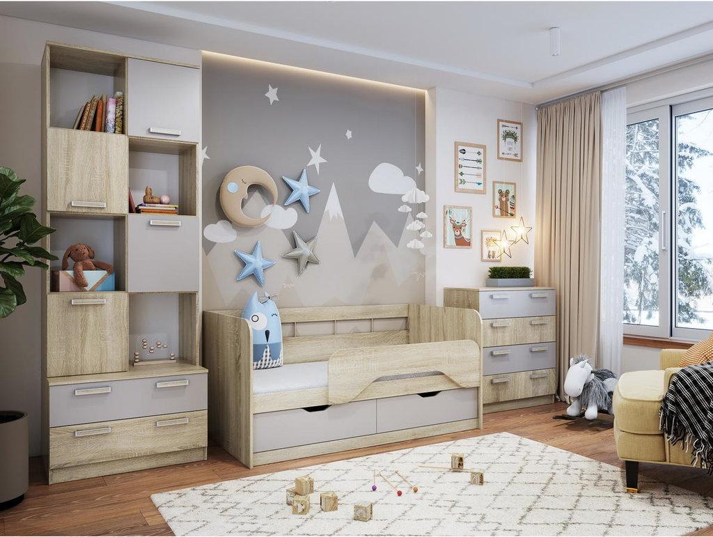 Модульная мебель в детскую Акварель: Модульная мебель в детскую Акварель в Стильная мебель