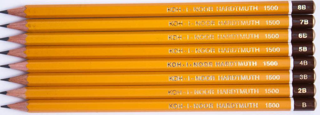 Чернографитные карандаши: Карандаш чернографитный KOH-I-NOOR 1500 2B 1шт в Шедевр, художественный салон