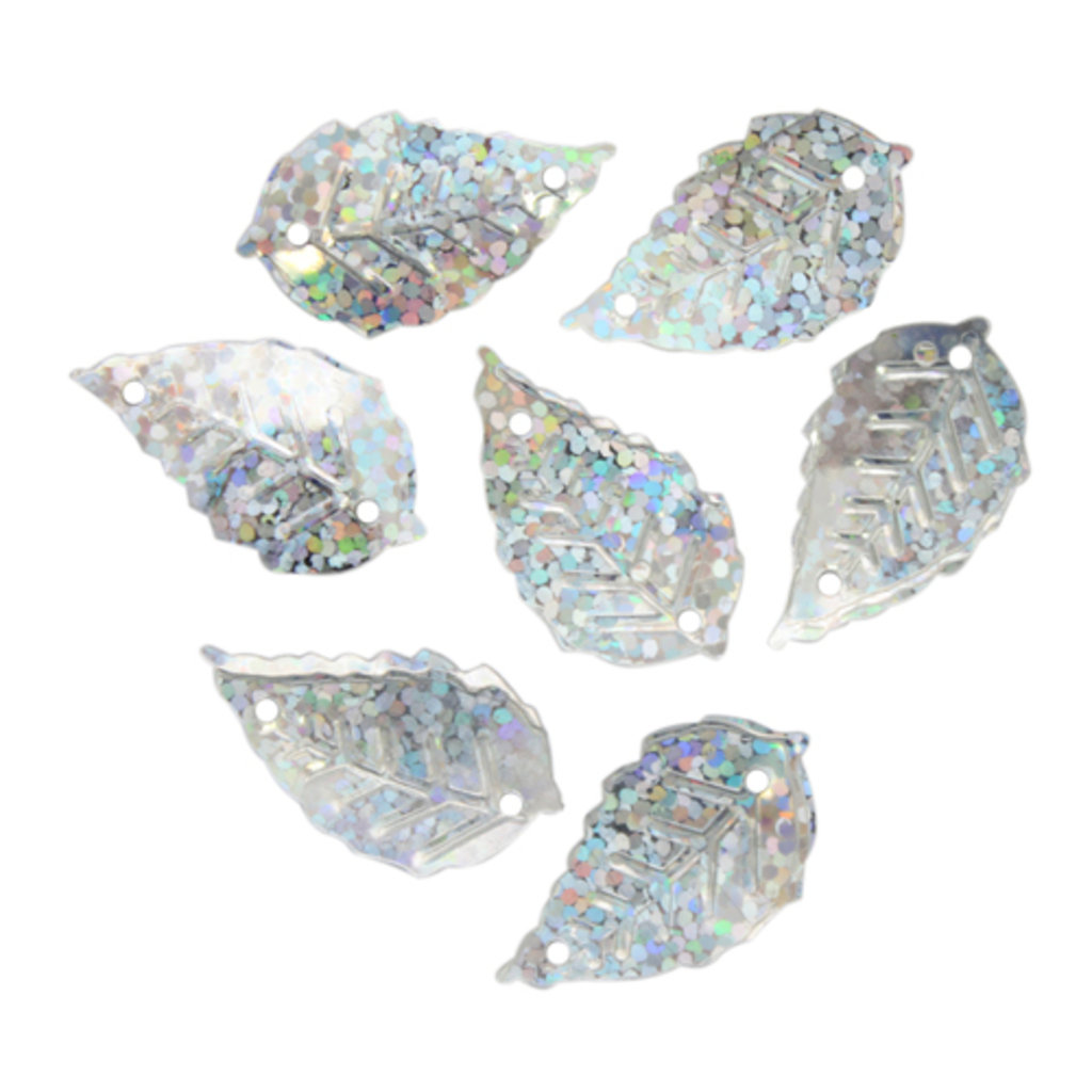 """Листочки: Пайетки""""листочки""""13*25мм.,упак/10гр.Астра(цвет:50112 серебро голограмма) в Редиант-НК"""