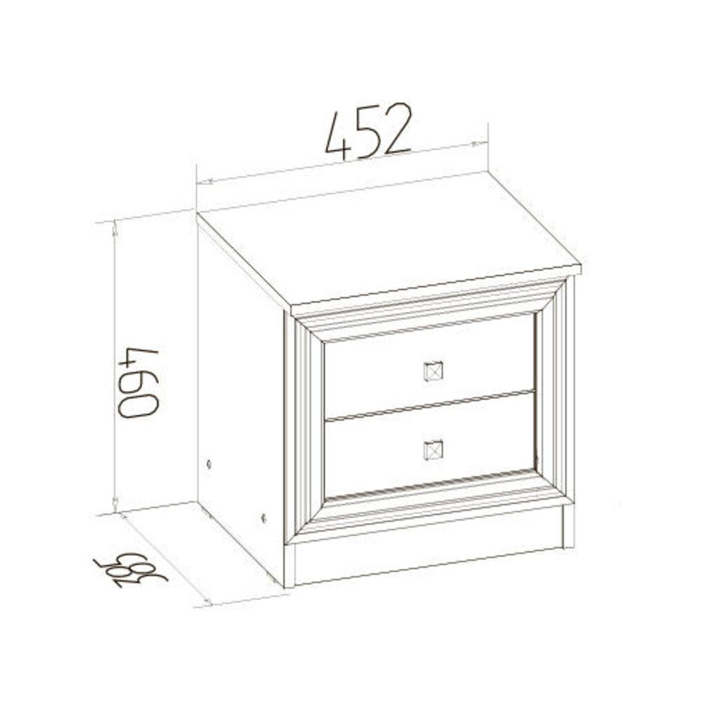 Прикроватные тумбочки: Тумба прикроватная PAOLA 41 в Стильная мебель