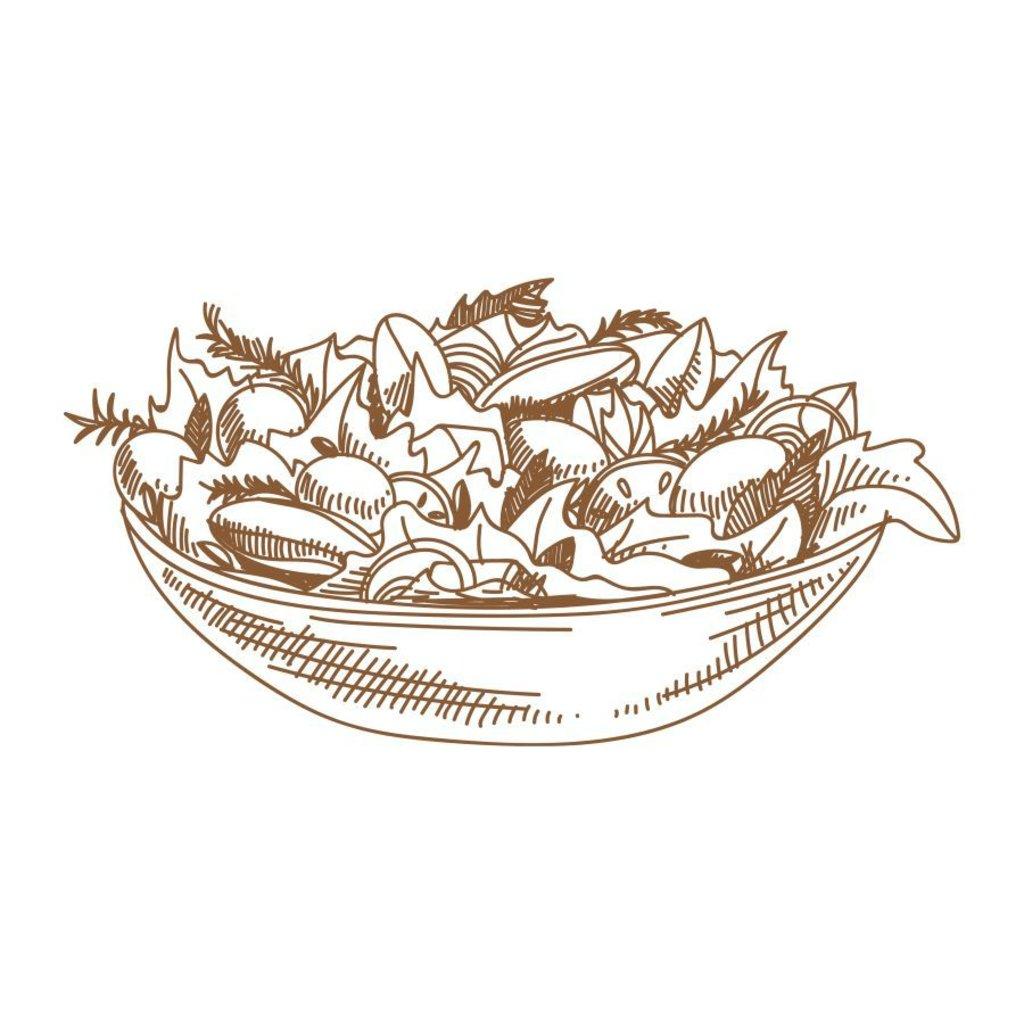Салаты: Тёплый с телятиной и овощами в Кафе «Парус»