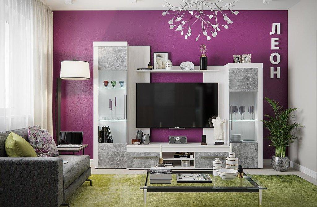 Модульная мебель в гостиную Леон: Модульная мебель в гостиную Леон в Стильная мебель