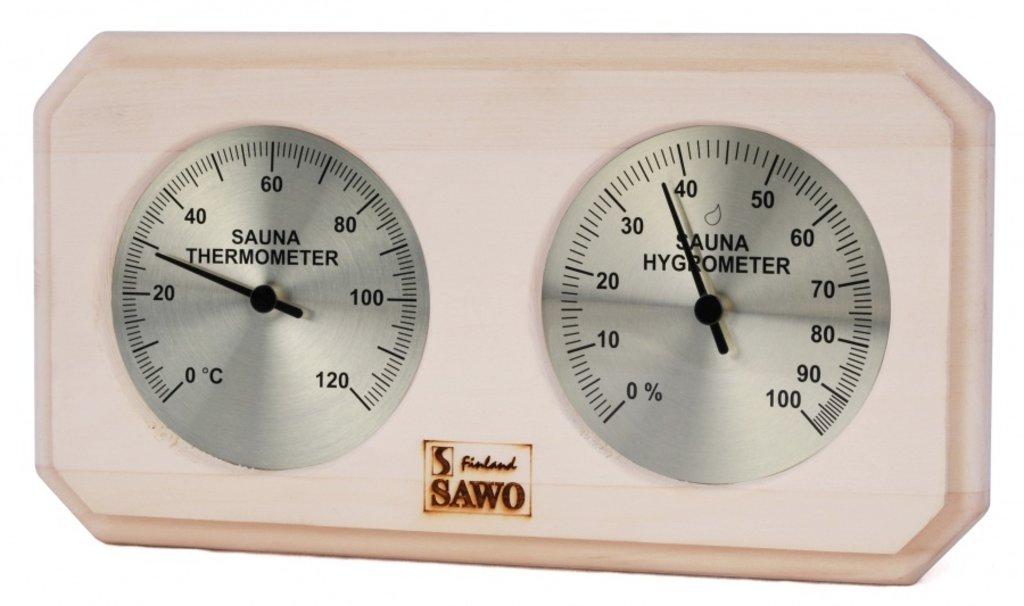 Термометры - гигрометры: Станция банная Sawo 221-THA, термометр с гигрометром, осина, 140*225 мм в Погонаж