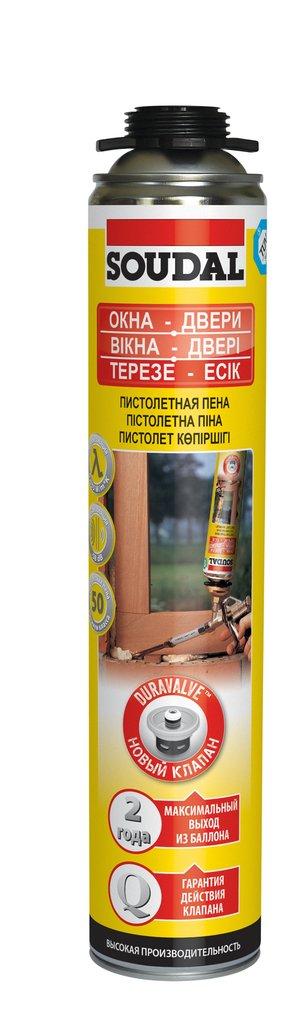 Монтажная пена профессиональная: Пена монтажная проф. Soudal Yellow 750 мл в АНЧАР,  строительные материалы