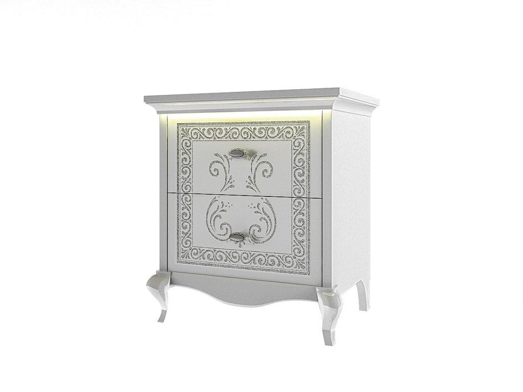 Этажерки и тумбы: Тумба Винтаж белый в Стильная мебель