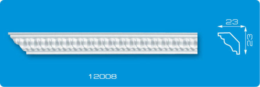 Плинтуса потолочные: Плинтус потолочный ФОРМАТ 12008 инжекционный длина 1,3м, узкий в Мир Потолков