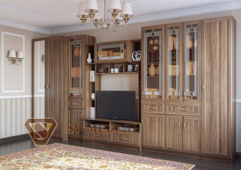 Мебель для гостиной Вега: Пенал с ящиком ВМ-02 Вега в Диван Плюс