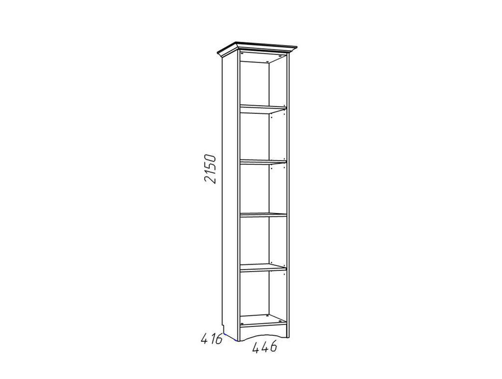 Детские шкафы и стеллажи: Шкаф для книг НМ 009.08-01 Прованс в Стильная мебель