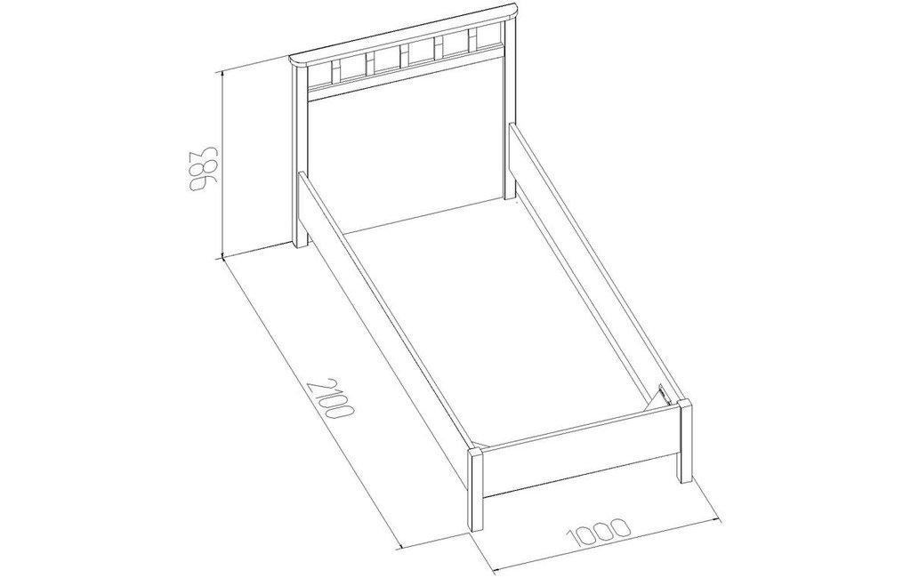 Кровати: Кровать Люкс Sherlock 50 (900, орт. осн. дерево) в Стильная мебель