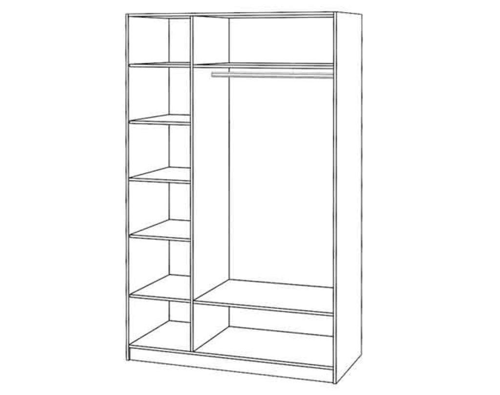 Шкафы для одежды и белья: Шкаф 3-х ств. Диана в Стильная мебель