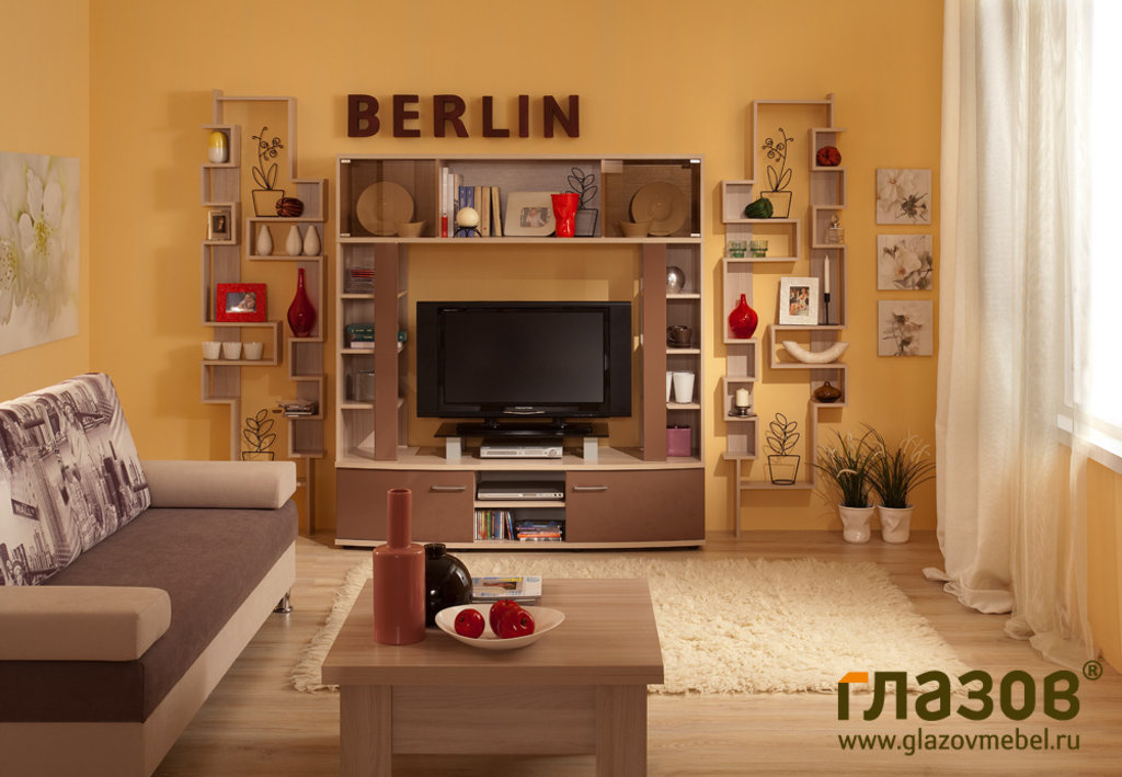 Тумбы и стойки под телевизор и аппаратуру: Тумба ТВ BERLIN 11 в Стильная мебель