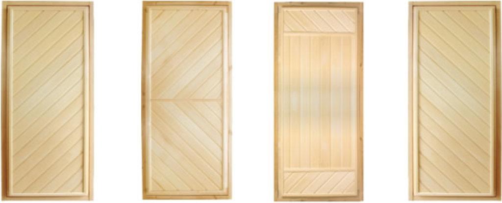 """Двери для саун и бань: Дверь 700*1700 мм, банная, глухая, на петлях (вагонка ЛИПА сорт """"А""""). в Погонаж"""