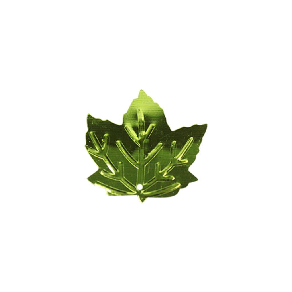 """Кленовый лист: Пайетки""""кленовый лист""""22*22мм.,упак/10гр.Астра(цвет:10 светло зеленый) в Редиант-НК"""
