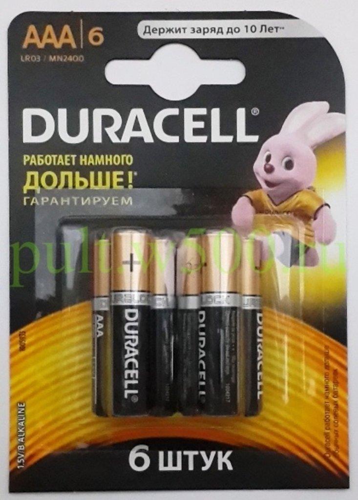 AAA, 03, Мизинчиковая: Батарея LR03, AAA  DURACELL MN2400 (6BL) в A-Центр Пульты ДУ