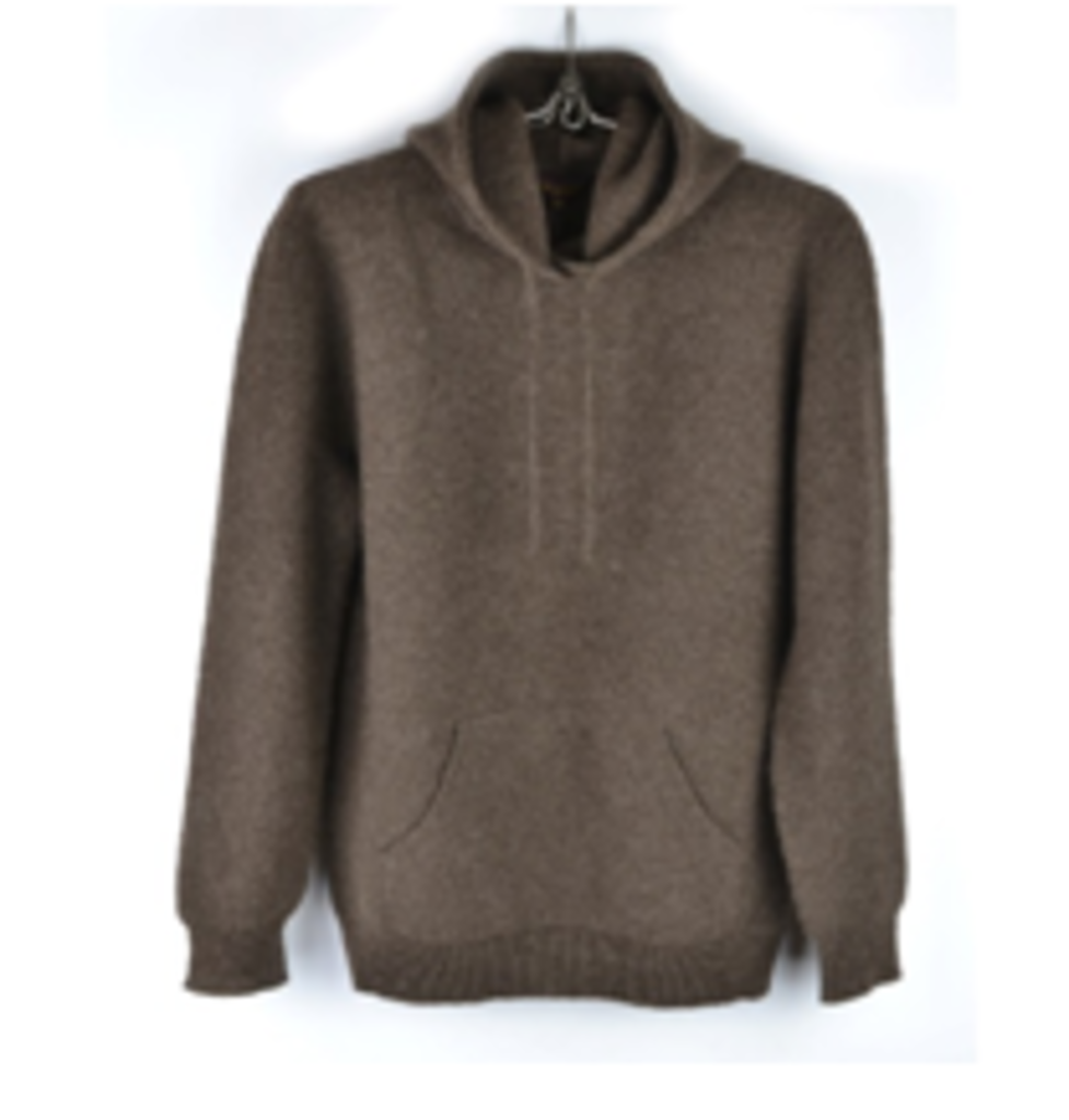 Женская одежда: Джемпер из шерсти яка с капюшоном в Сельский магазин