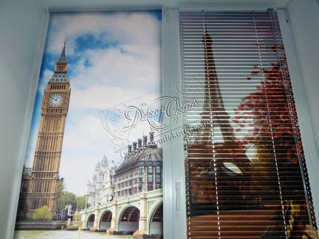 Жалюзи для окон: Жалюзи горизонтальные с фотопечатью в Декор окна, салон