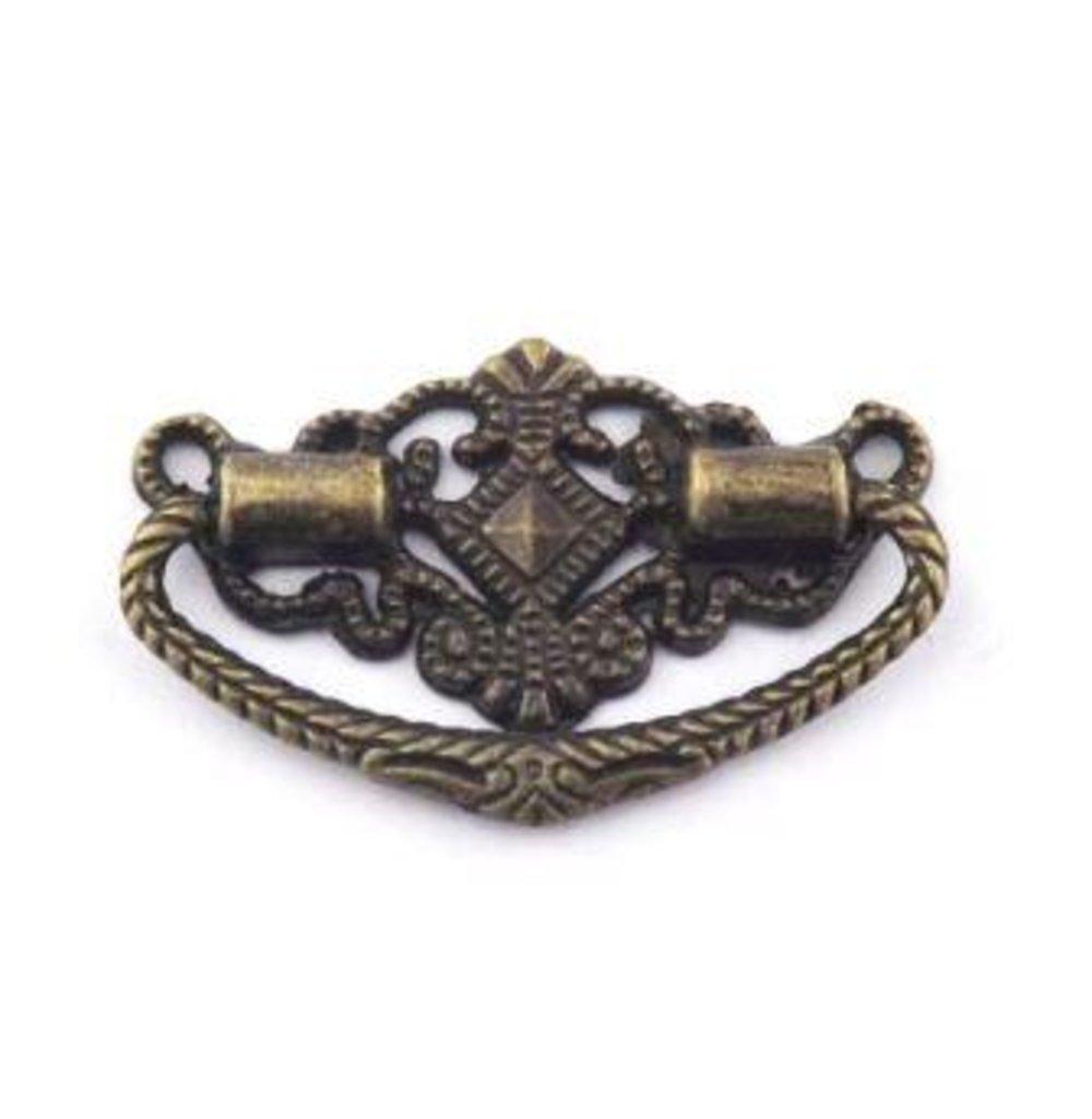 Шкатулки: Декор.ручка для шкатулок ШРМ44 48*33мм  бронза 1шт в Шедевр, художественный салон