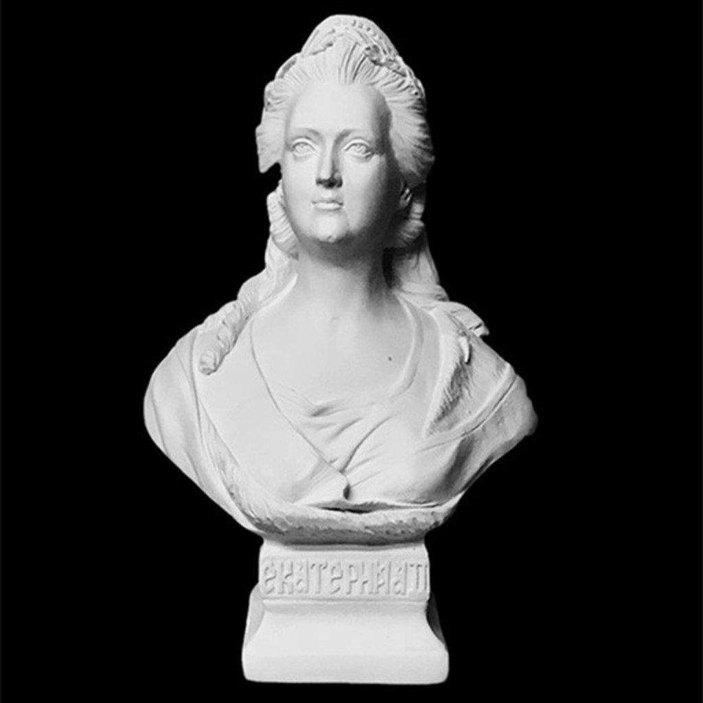 Гипсы: Бюст Екатерина Вторая, гипс в Шедевр, художественный салон