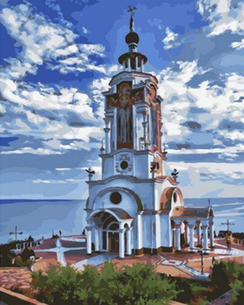 Картины по номерам: Картина по номерам Paintboy 40*50 ОК10874 Собор в Шедевр, художественный салон
