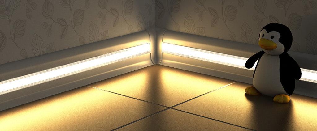 Плинтуса напольные: Вставка под светодиодную ленту в Мир Потолков