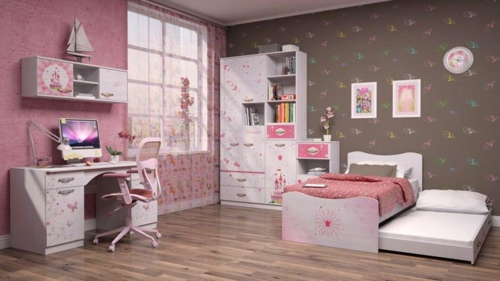 Модульная мебель в детскую Принцесса: Модульная мебель в детскую Принцесса в Стильная мебель