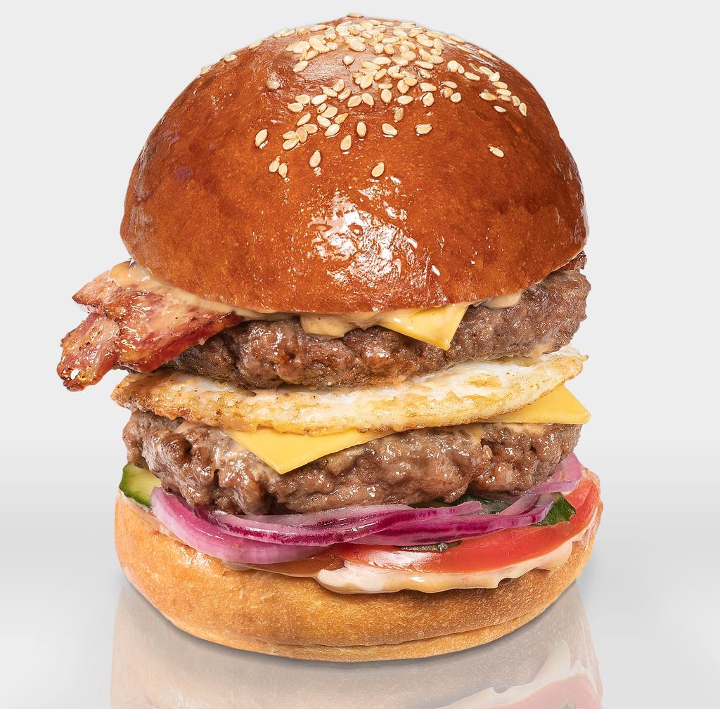 """Бургеры с двойной котлетой из говядины: Бургер """"XL Английский"""" в The Угли"""