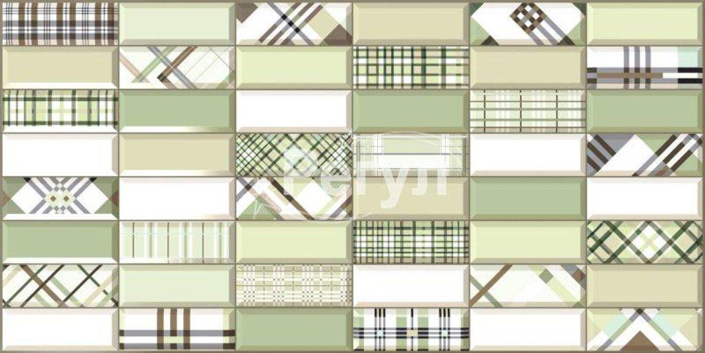 Панели ПВХ: Плитка Импровизация зеленая в Мир Потолков