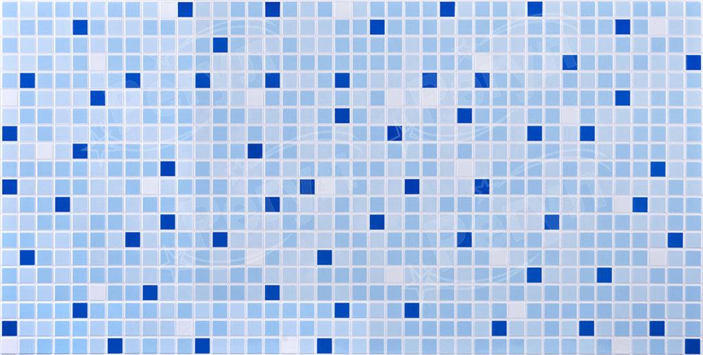 Панели ПВХ: Мозаика Синий микс в Мир Потолков