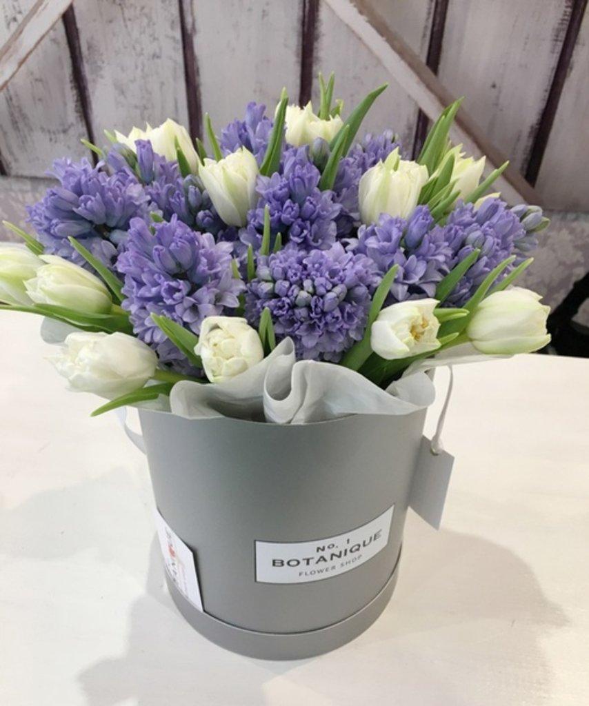 "Premier mini: ""Premier mini"" Гиацинты+Тюльпаны в Botanique №1,ЭКСКЛЮЗИВНЫЕ БУКЕТЫ"