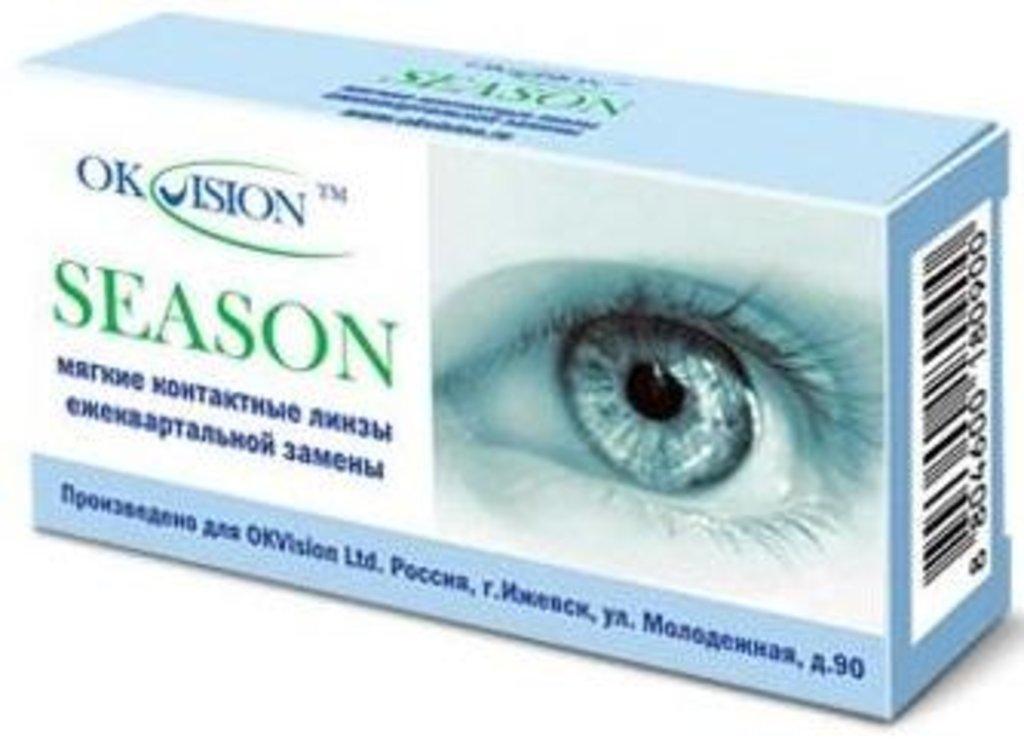 Контактные линзы: Контактные линзы Season на 3 месяца (2шт / 8.6) Ok Vision в Лорнет